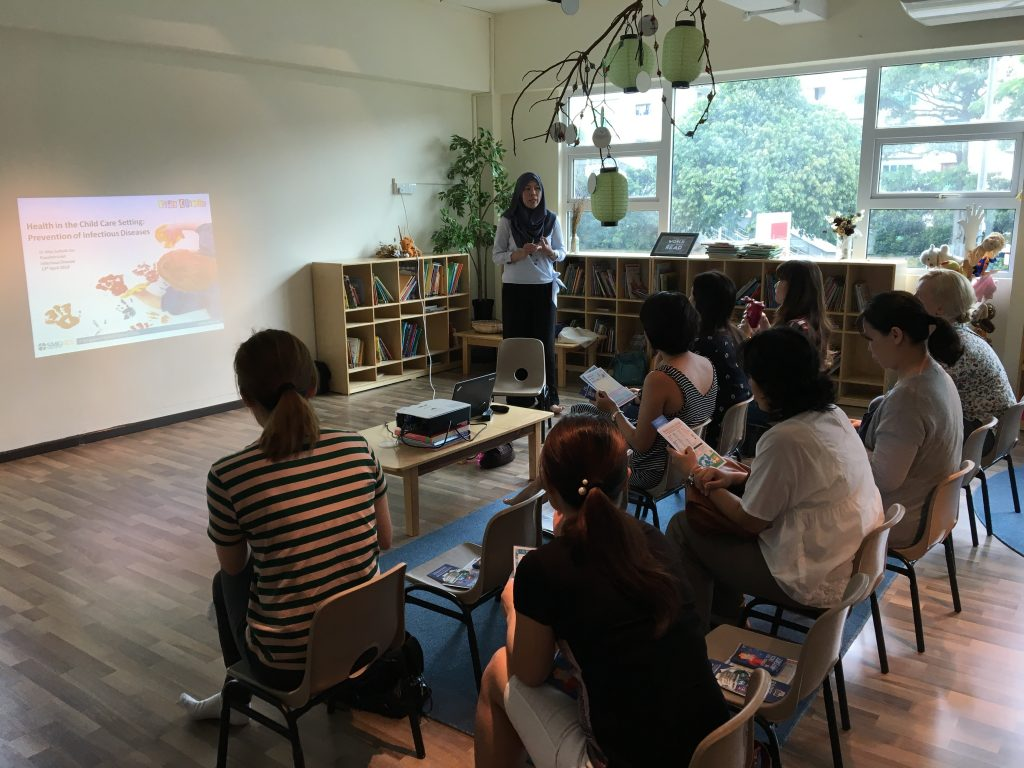 Dr Mas Suhaila Isa from SMG Kids Clinic Giving A Talk at Etonhouse Pre-school on 13 April 2018 on HFMD, Chickenpox and Pre-travel Vaccination.