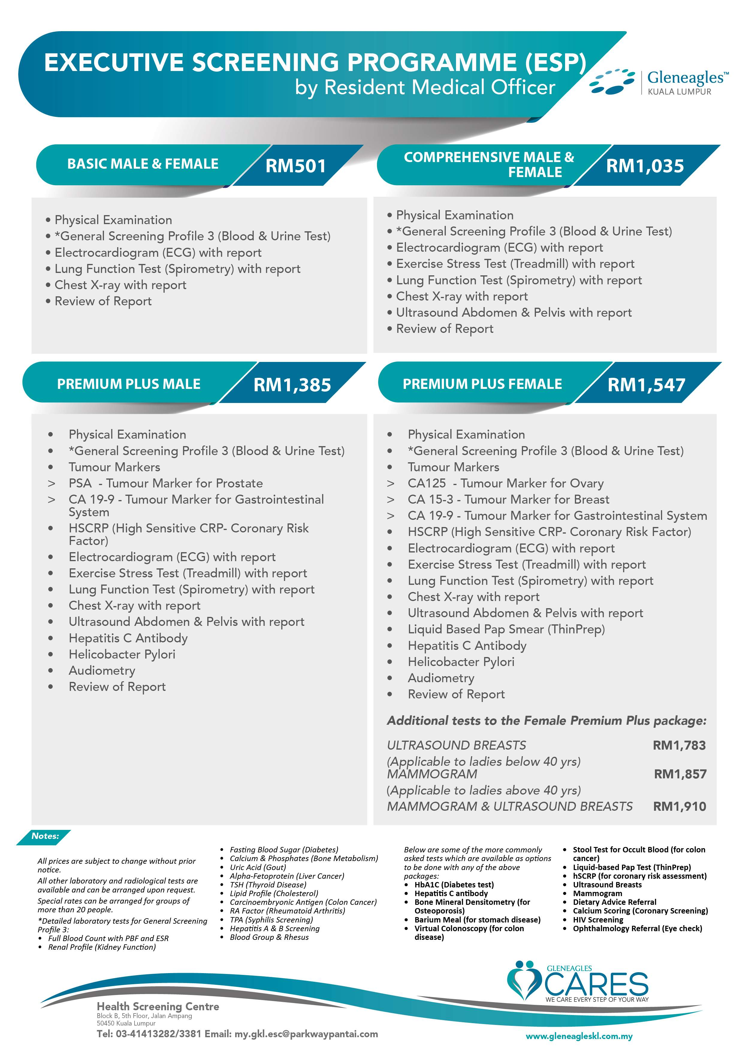 Health Screening Singapore Health Screening Packages Induced Info